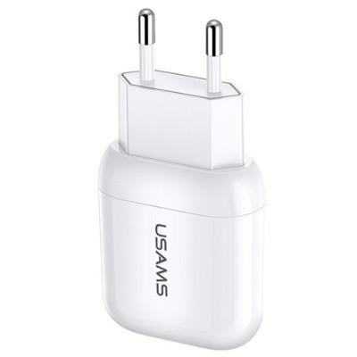 USAMS T19 Single USB Travel Charger (EU) White